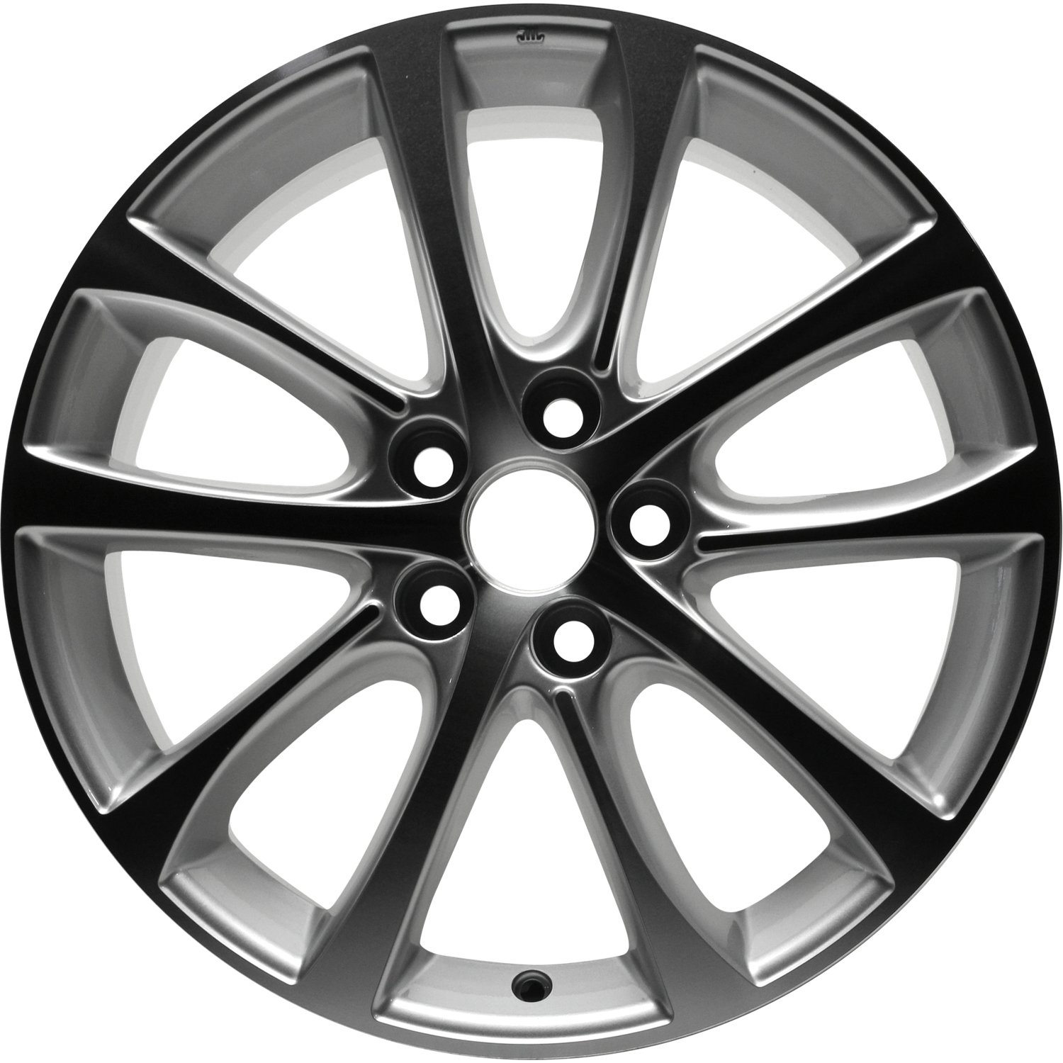 remanufactured 18x7 5 alloy wheel 10 spoke machined w silver inlays Used Chevy Hubcaps remanufactured 18x7 5 alloy wheel 10 spoke machined w silver inlays
