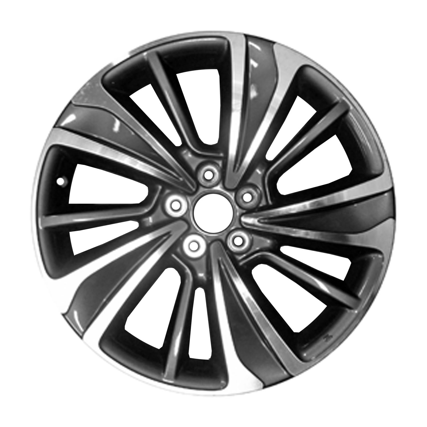 20 X 8 10 Spoke Aluminum Alloy Wheel Machined And Charcoal 71838
